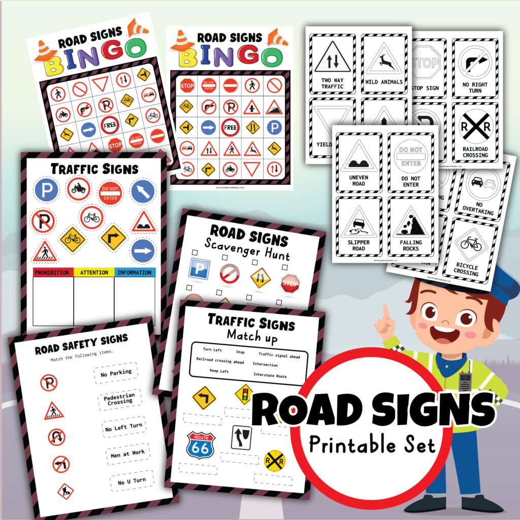 printable for your road trip with toddlers